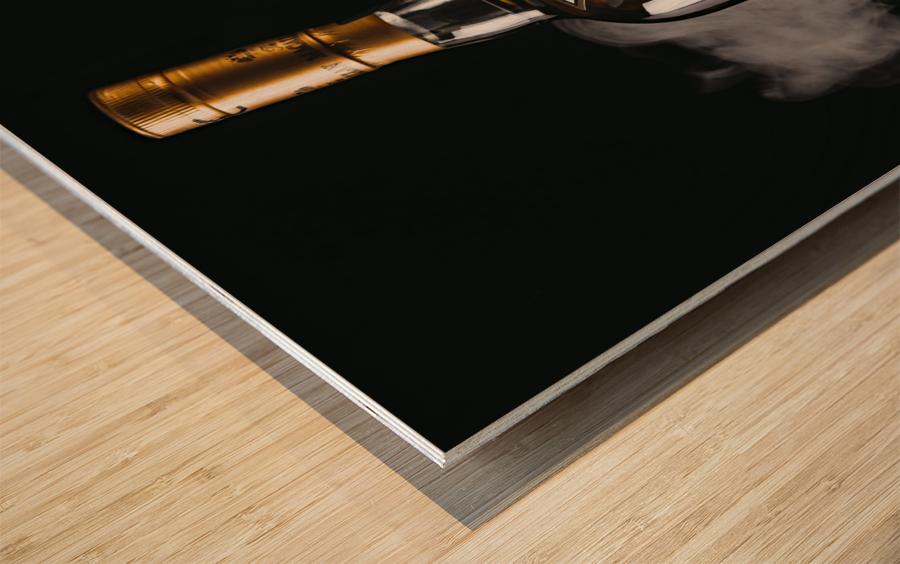 WHISKEY BOTTLE  Wood print