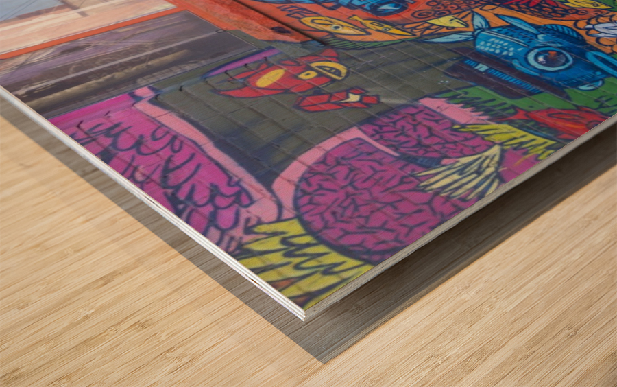 Torontos Graffiti Alley  17 Wood print