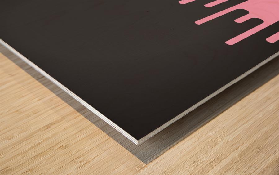 Candy Melting Tone Wood print