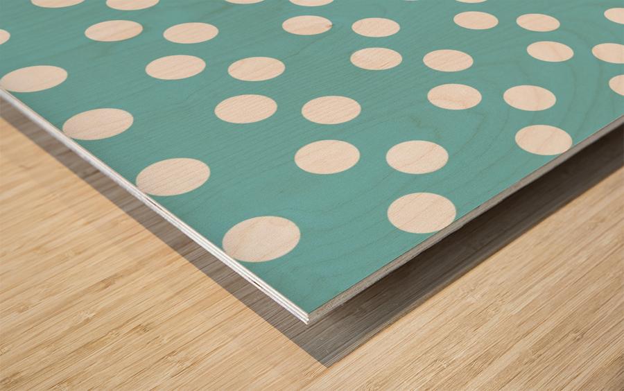 CADET BLUE Polka Dots Wood print