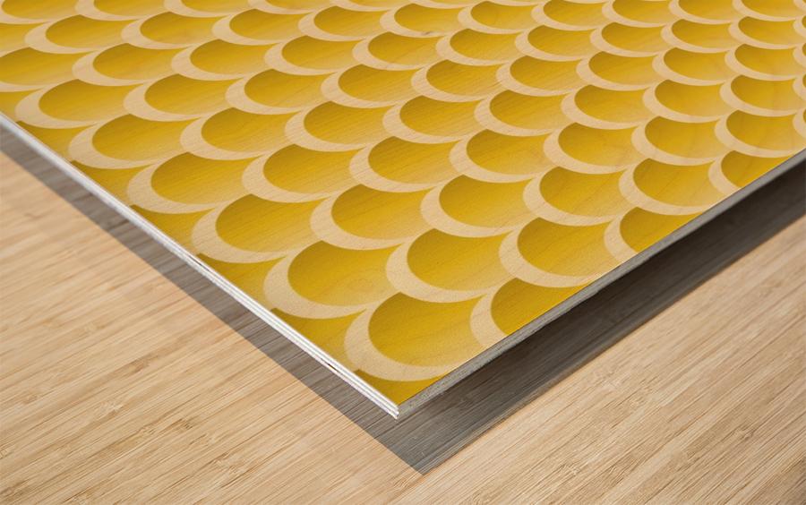 YELLOW MERMAID PATTERN Wood print