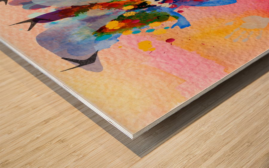 run through Duality of mind  Wood print