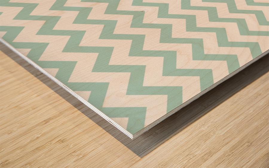 ARCTIC CHEVRON Wood print