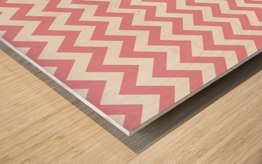 ICECREAM CHEVRON Wood print