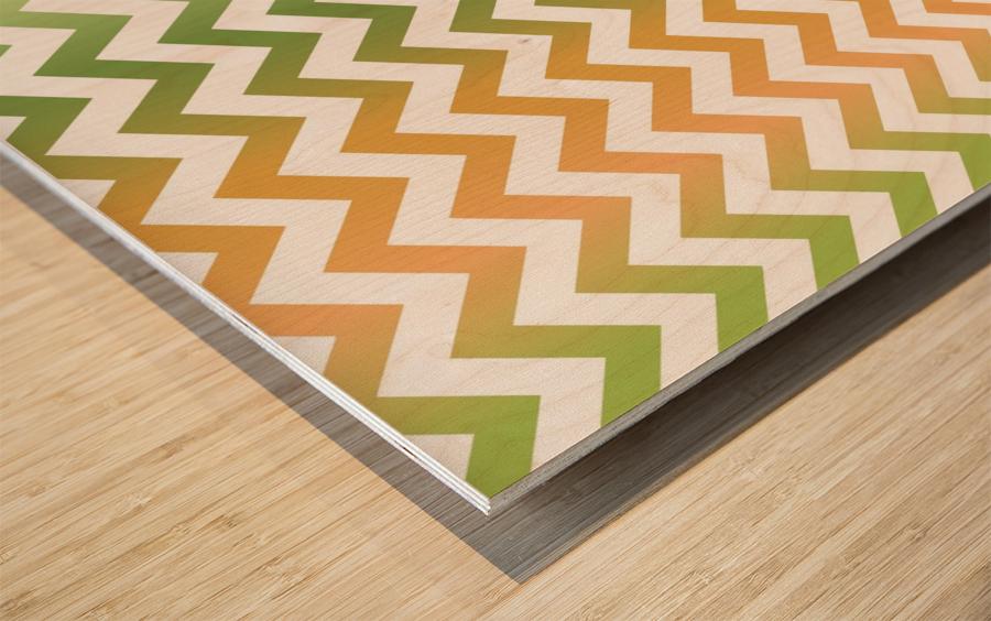PEAR CHEVRON Wood print