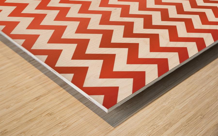 TOMATO CHEVRON Wood print