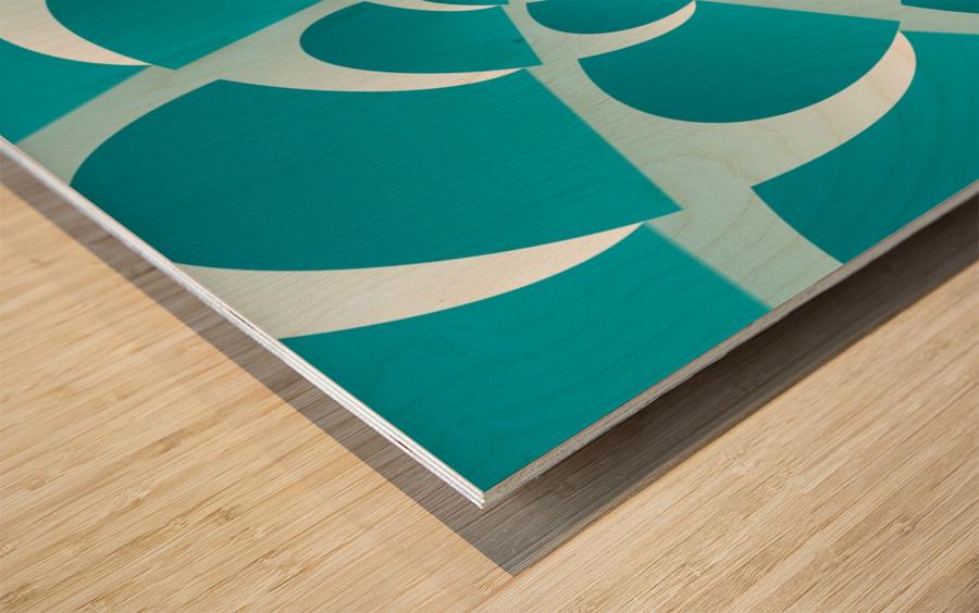 Blue Grill Wood print