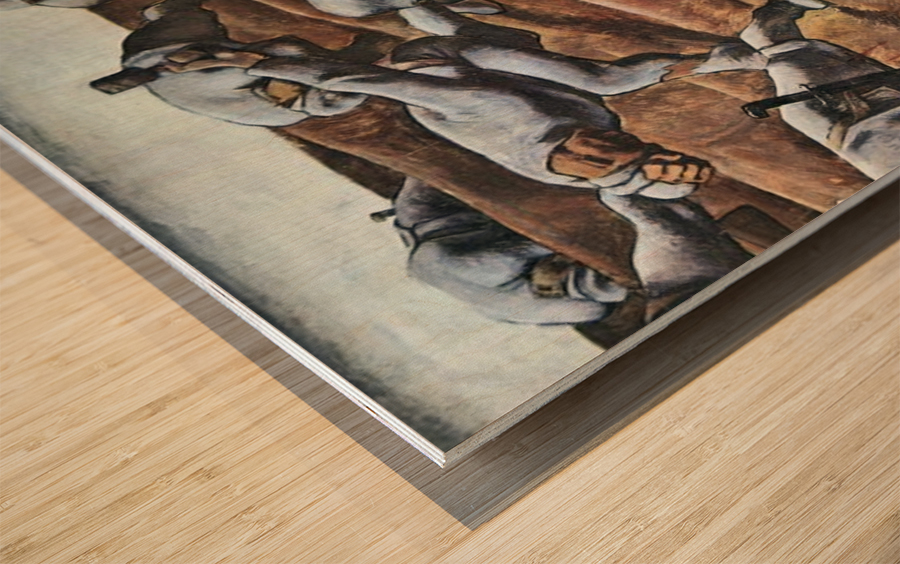 The Nameless 1915 by Albin Egger-Lienz Wood print