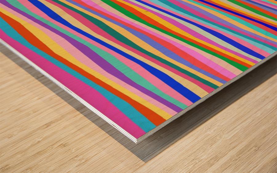 Wavy Stripes Abstract  Wood print
