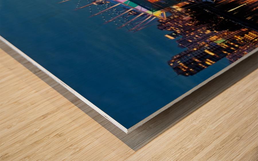 The Arena Wood print