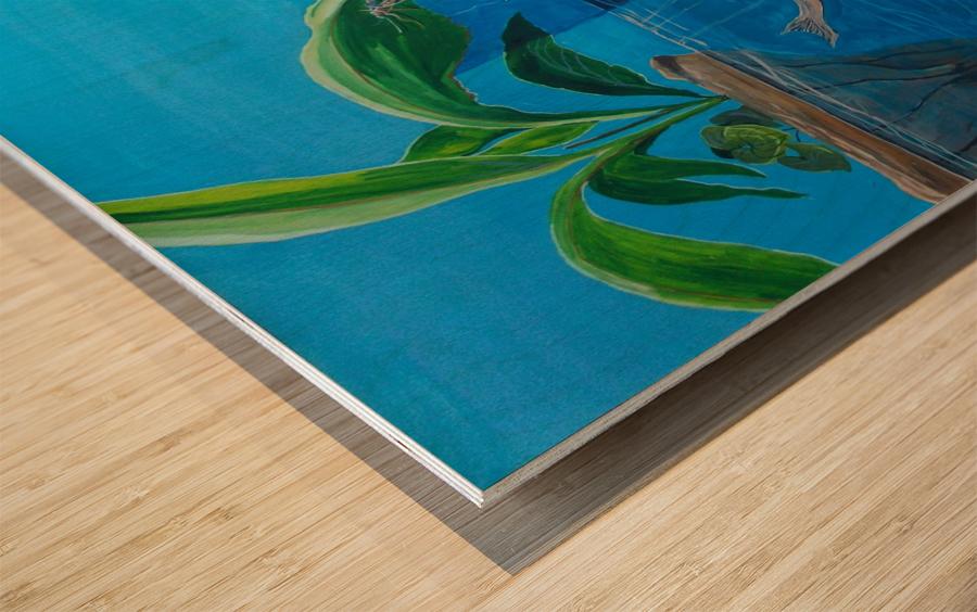 warmth deprived Wood print