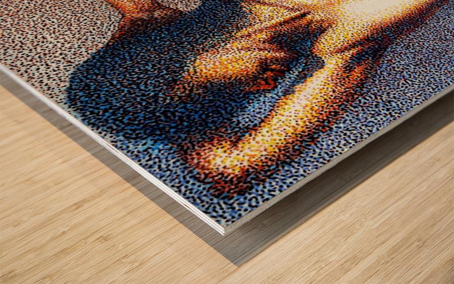 She by Krzysztof Grzondziel Wood print