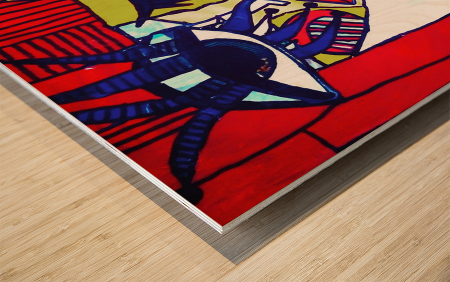 Red Warhol Wood print