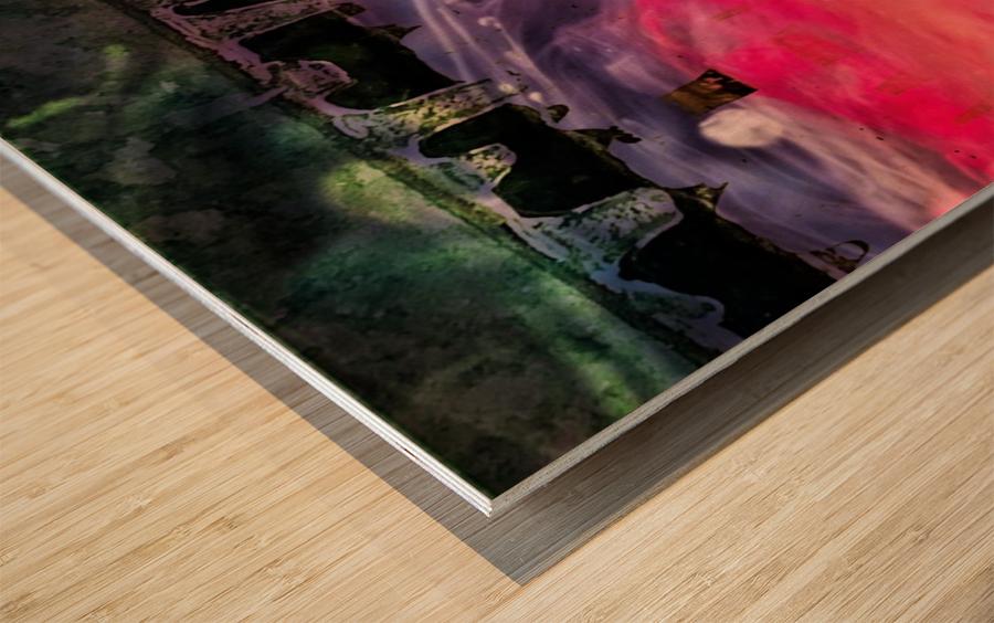 Abstraction  Impression sur bois