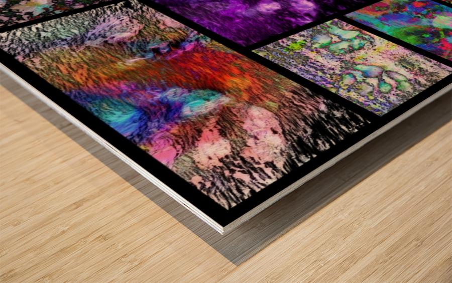 Crazy Paw Print Collage Wood print