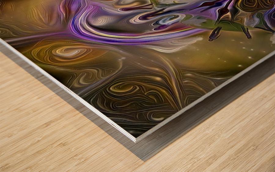 Earth Time Wood print