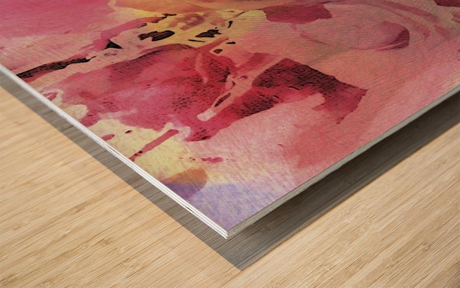 June Rose Wood print