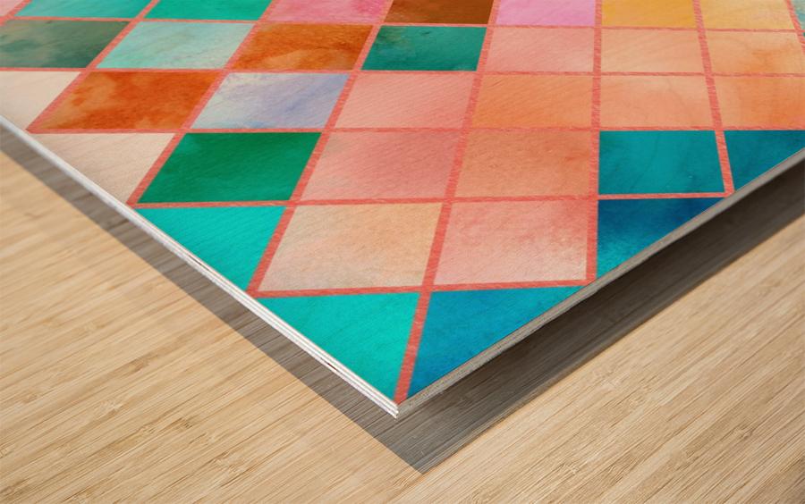 Geometric XXXX Wood print