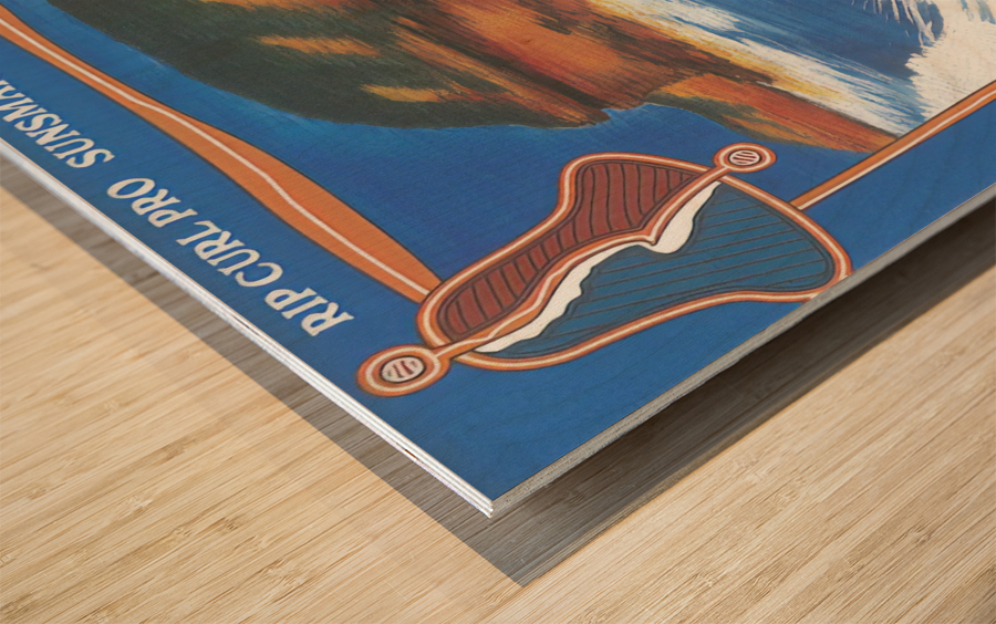 2000 RIP CURL PRO BELLS BEACH EASTER Surfing Championship Competition Print - Surfing Poster Wood print