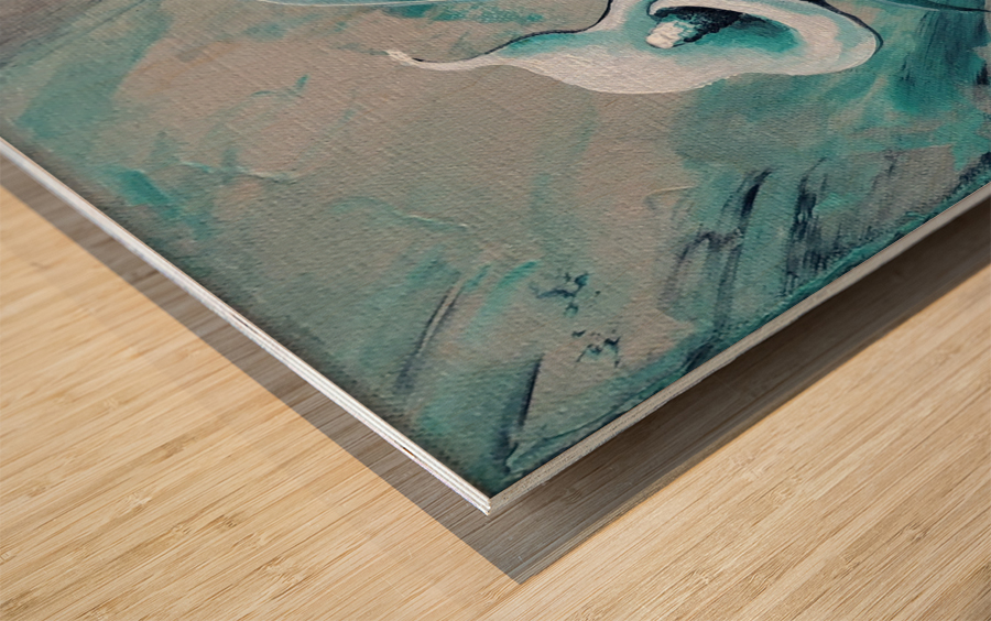 In love Wood print