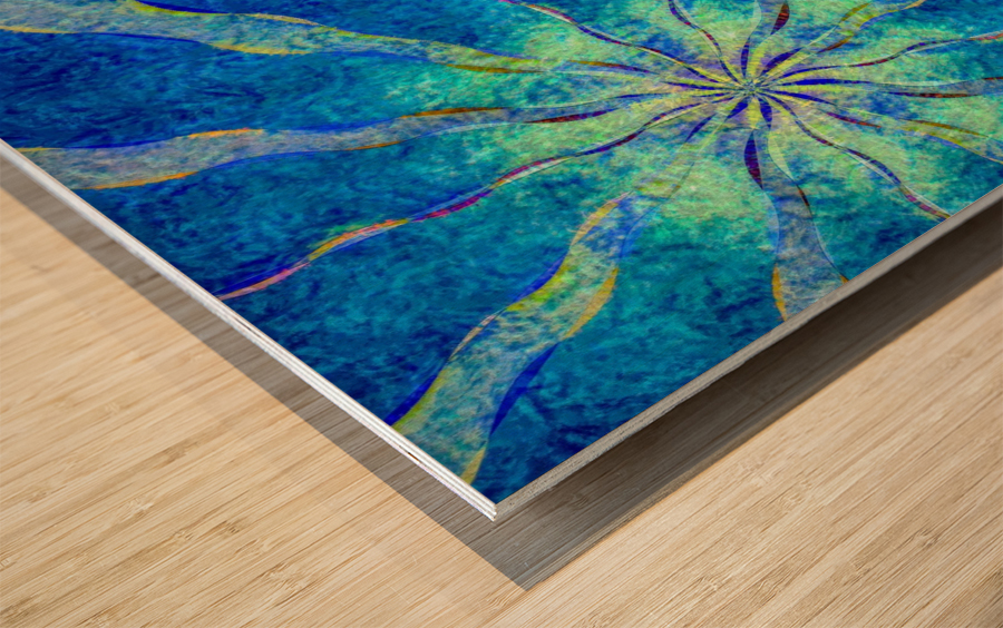 A Blue True Dream of Sky Wood print