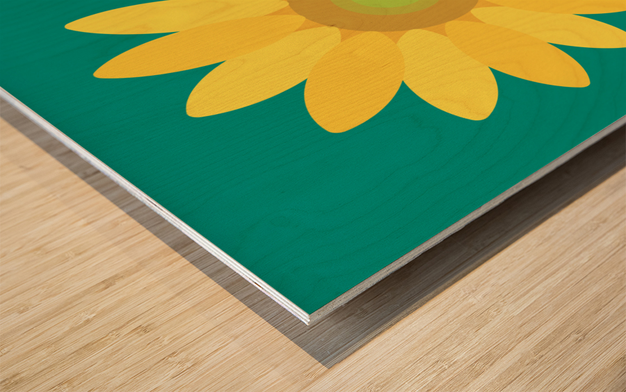 Sunflower (15)_1559876665.7687 Wood print