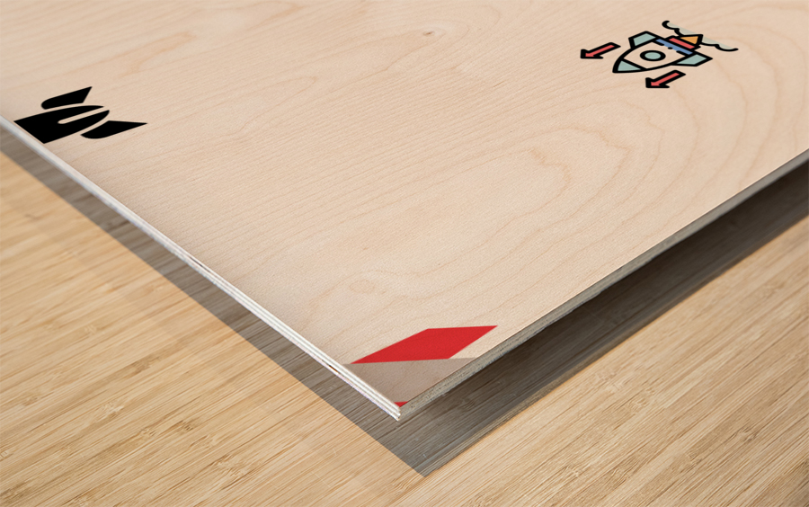 Space (2) Wood print