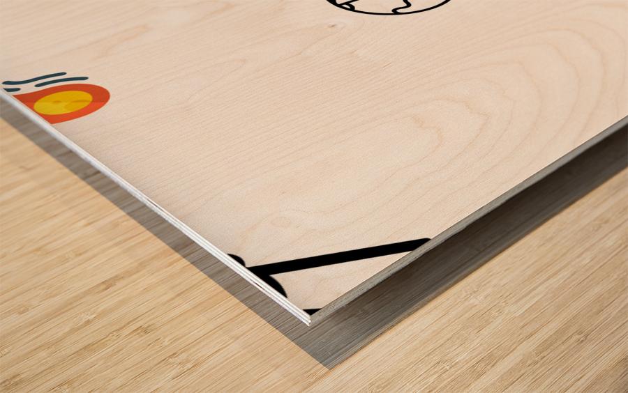 Space (12) Wood print