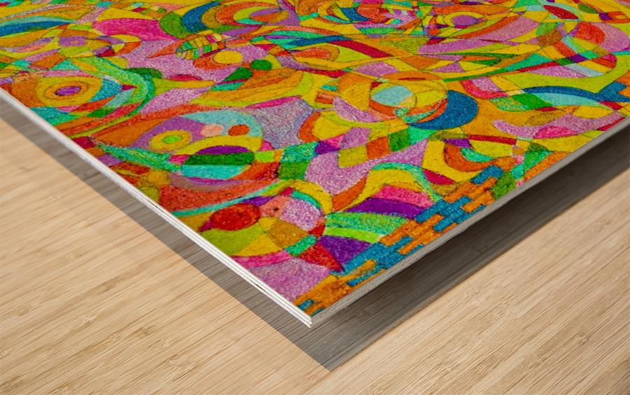 ABSTRACT SHAPES 08 Wood print