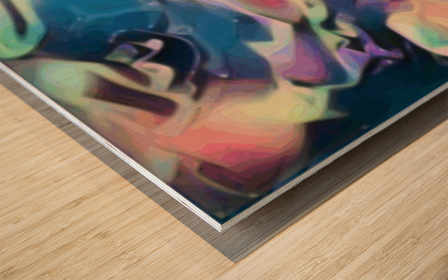 Smooth Brandy - multicolor abstract swirl wall art Wood print