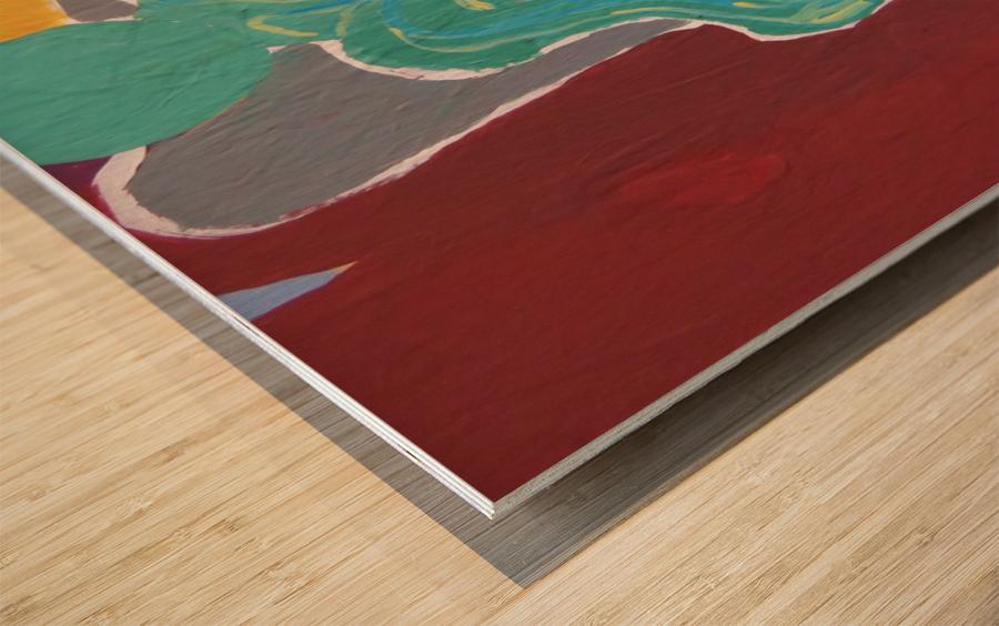 Behind  Wood print