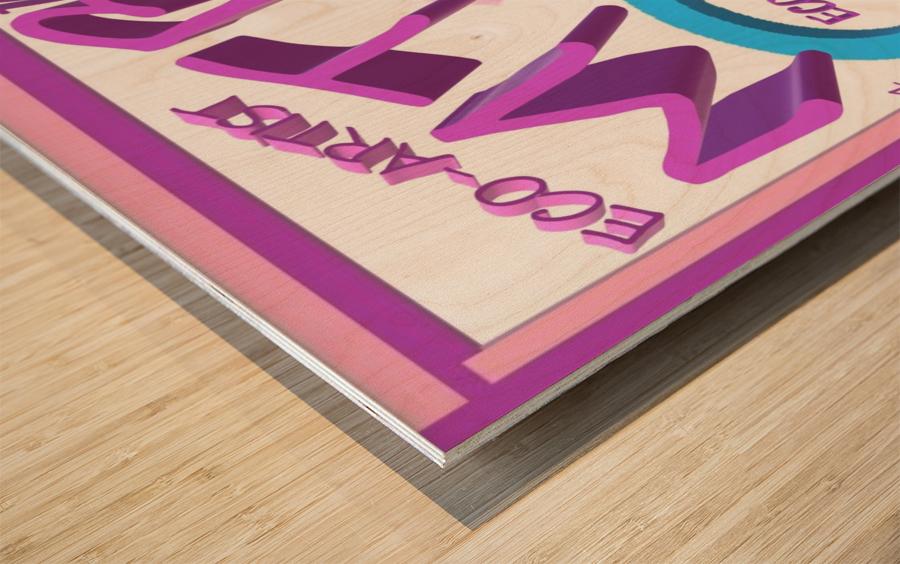 MTB 4 LIFE   ECO ARTIST TOMMY BOYD Wood print