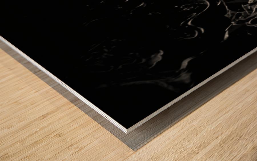 Infinite - black white gradient polygons swirls large abstract wall art Wood print