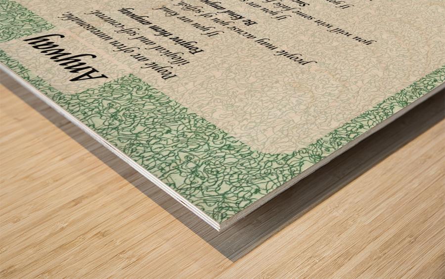 2-Anyway Poem Wood print