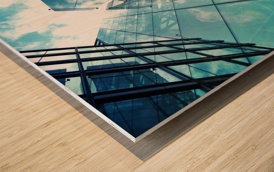 architectural design architecture building business Wood print
