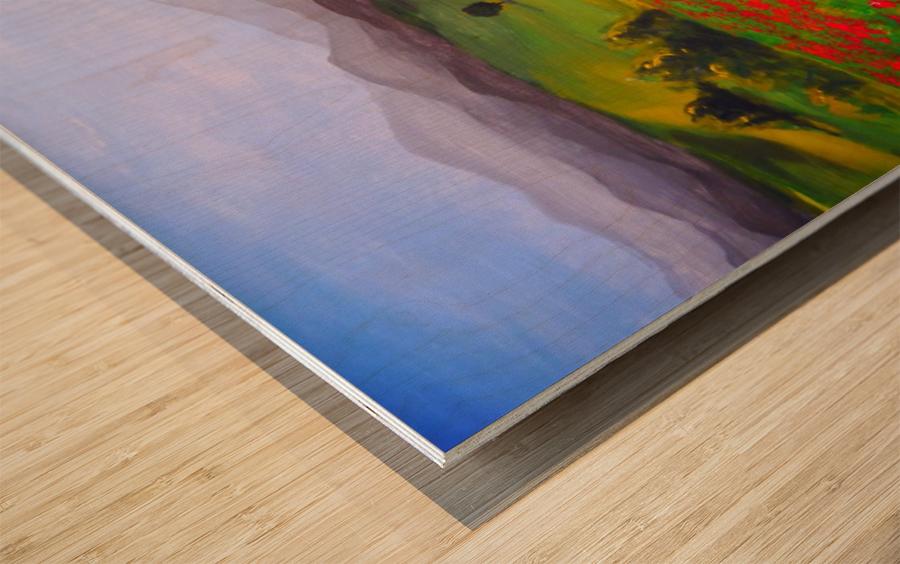 painting art landscape acrylic Wood print