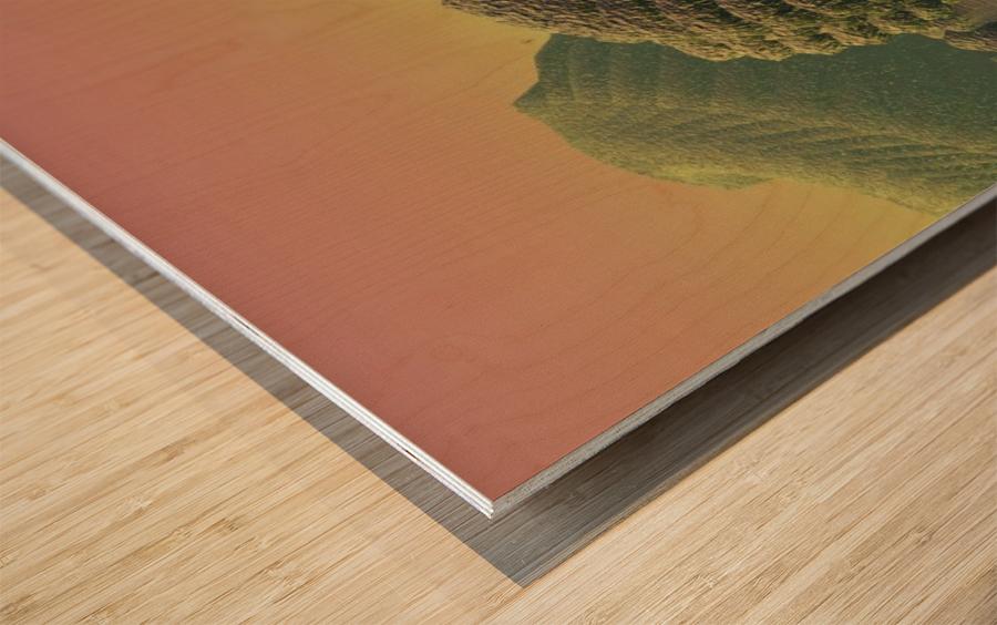 planet water sea landscape space Wood print