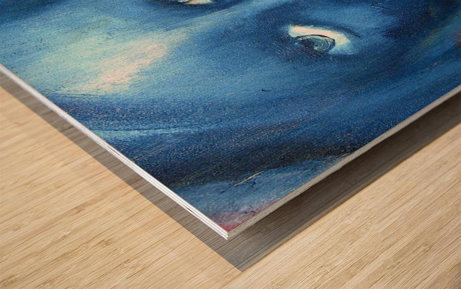 Feeling Blue Wood print