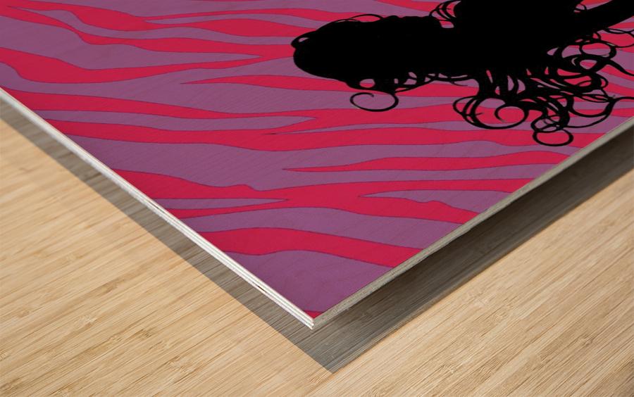 Silhouette 7 Wood print