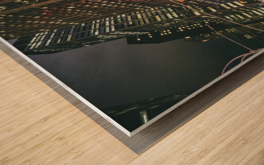 Radio City Wood print