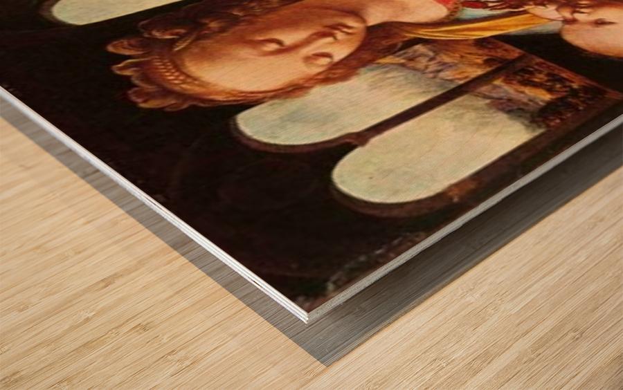 Leonardo da Vinci. The Madonna of the Carnation HD 300ppi Wood print