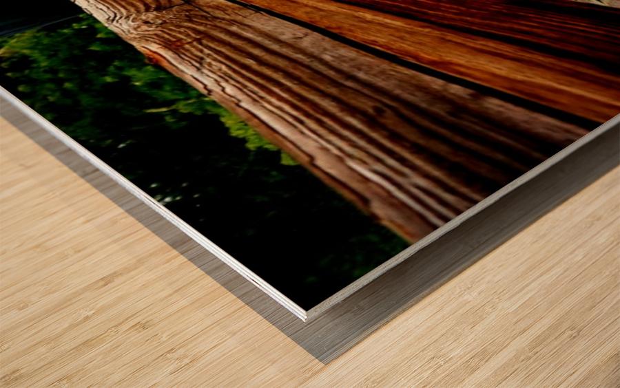 Wooden bridge Wood print
