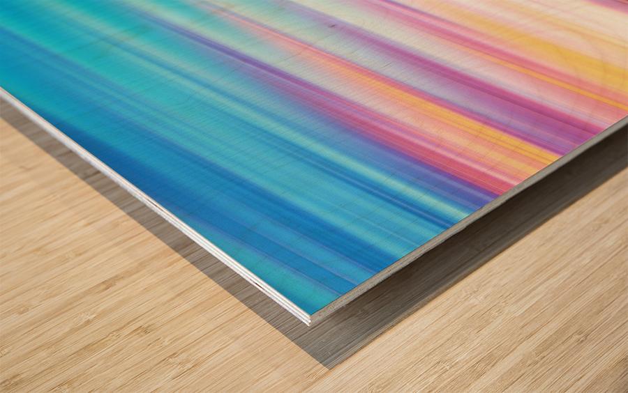 Abstract Sunset XI Wood print