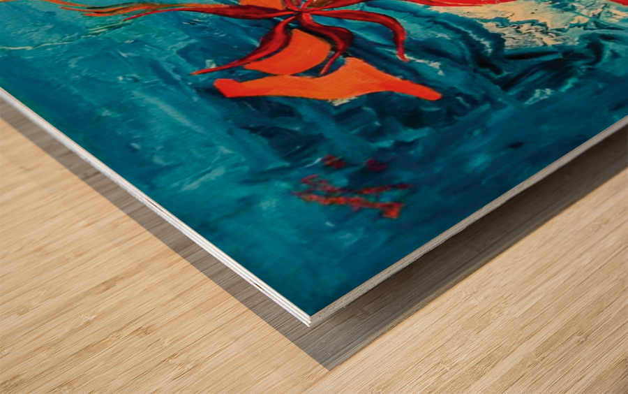 corals Wood print