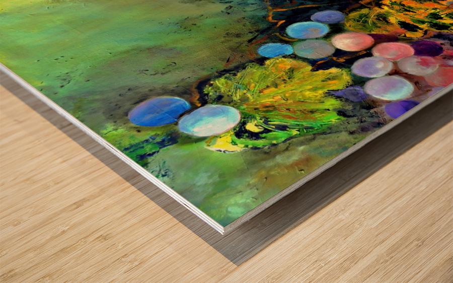 AO - The Grapes Wood print