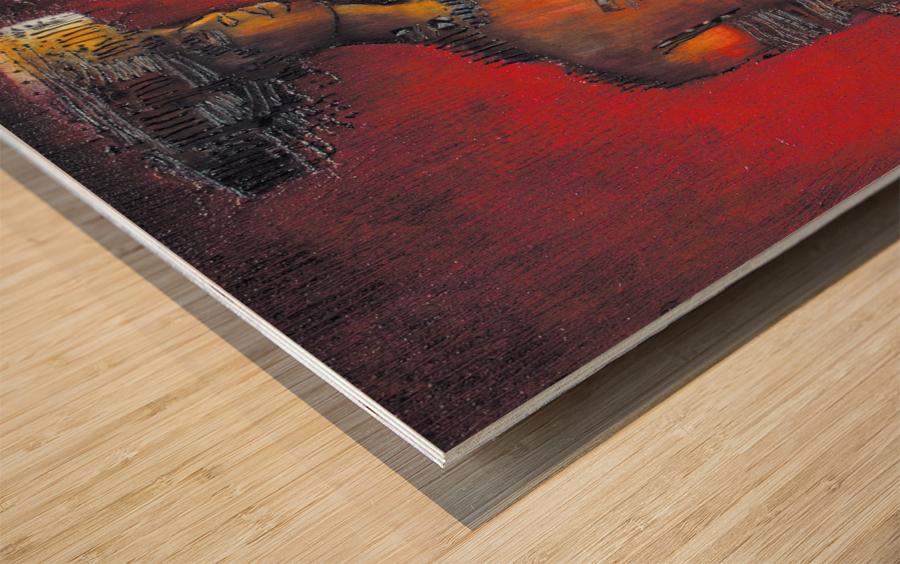 Red Massai Impression sur bois