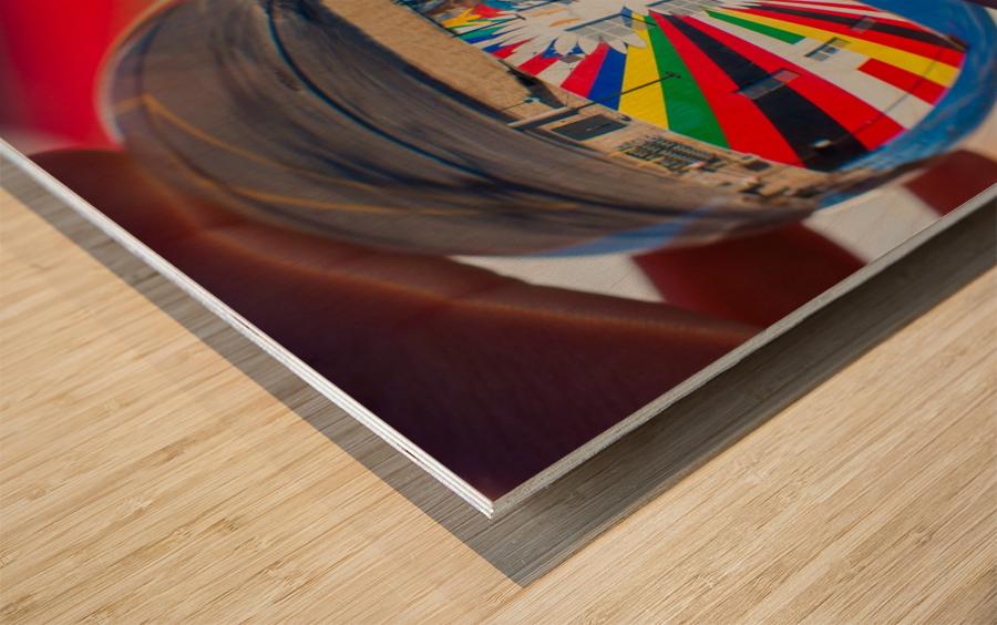 MKE Glass Ball Reflections Wood print