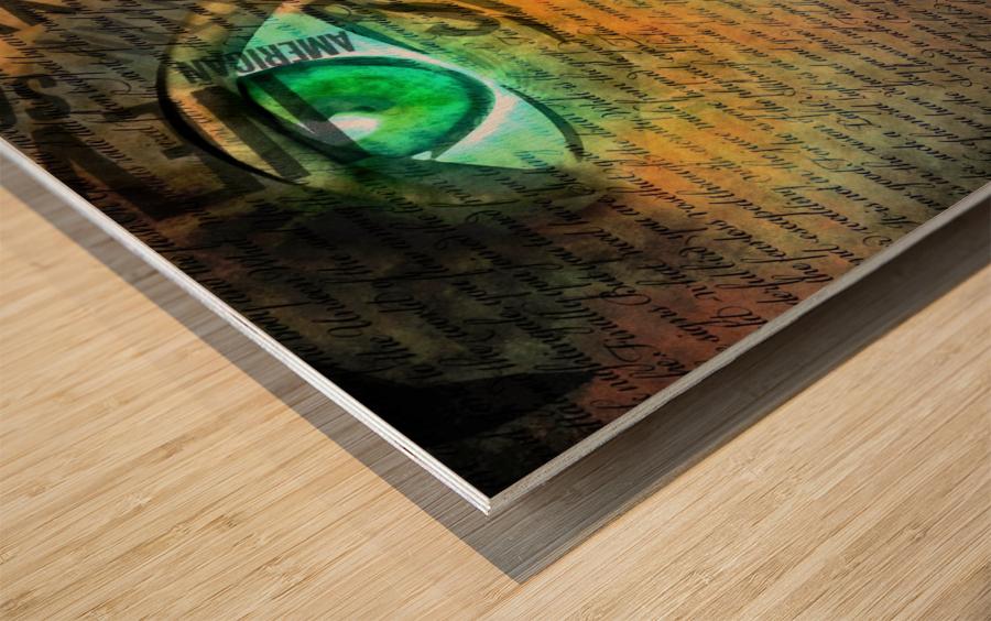 NYC Face Wood print