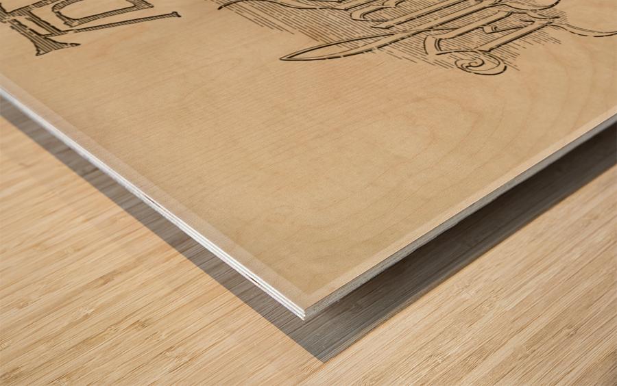 Albrecht Durer Ambigram Wood print