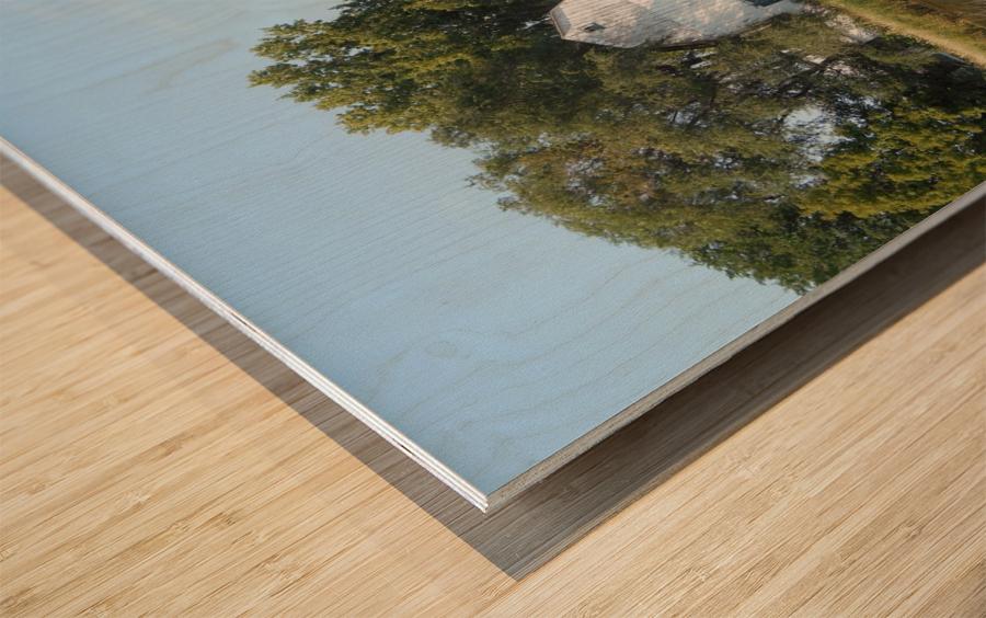 Peaceful Pond Wood print